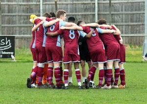 Team huddle.vBishops Cleeve